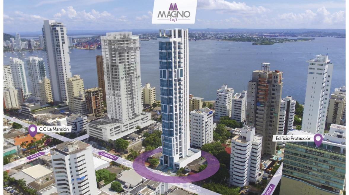 Proyecto Magno Loft - Apartamentos En Venta Bocagrande Oficinas en Bocagrande