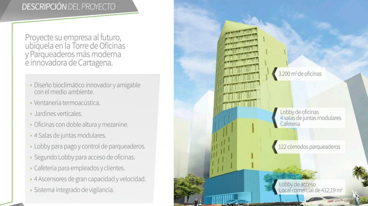 Torre Empresarial PRODEGI Proyectos Oficinas en Cartagena Bocagrande