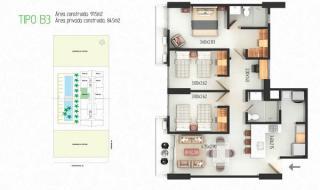 Proyecto 54 PARKApartamentos + Club House, modernos apartamentos con áreas construidas desde 69 m2 hasta 97 m2, en medio de un club house dotado de amplias zonas sociales, jardines y herramientas funcionales para facilitar tu vida.  54 Park estará ubicad